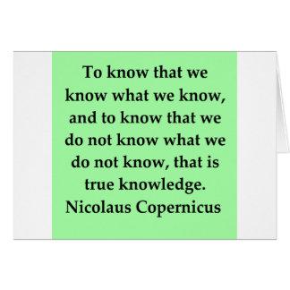 Cartes citation de Copernic