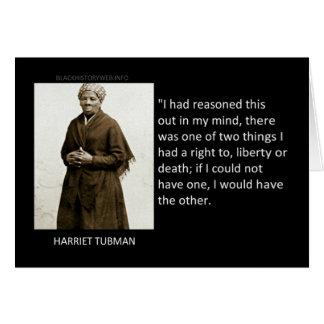 Cartes Citation de Harriet Tubman