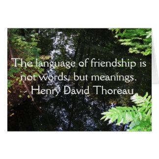 Cartes Citation de Henry David Thoreau au sujet de