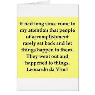 Cartes citation de Léonard de Vinci
