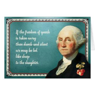 Cartes Citation de liberté du Président George Washington