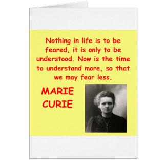 Cartes Citation de Marie Curie