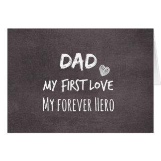 Cartes Citation de papa : Ma première passion, mon héros