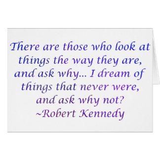 Cartes Citation de Robert Kennedy