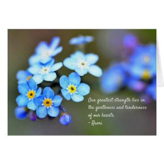 Cartes Citation de Rumi au sujet de la vie