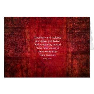 Cartes Citation de SAGESSE d'Emily Bronte