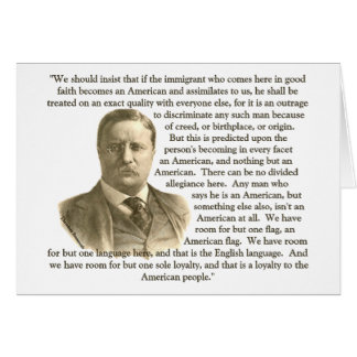 Cartes Citation de Teddy Roosevelt