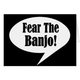 Cartes Citation drôle de banjo