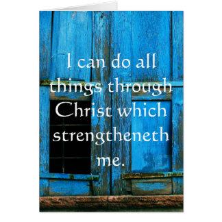 Cartes Citation inspirée de bible - 4h13 de Philippiens