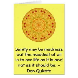 Cartes Citation inspirée de Don don Quichotte