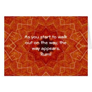 Cartes Citation inspirée de Rumi indiquant au sujet de la