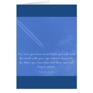 Cartes Citation inspirée de vol de Leonardo da Vinci