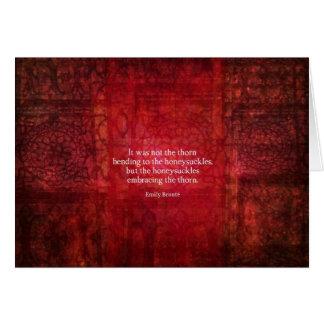 Cartes Citation inspirée d'Emily Bronte