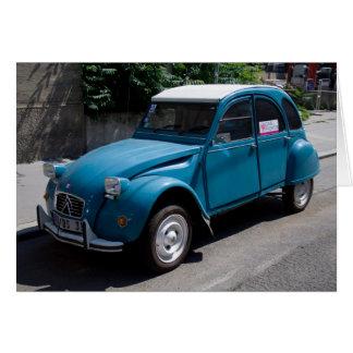 Cartes Citroën bleu 2CV