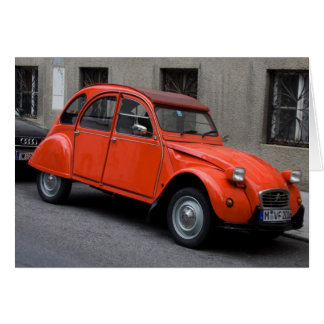 Cartes Citroën rouge 2CV