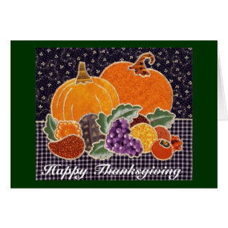 Cartes Citrouille de thanksgiving et patchwork d'amis