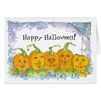 Cartes Citrouilles heureux de Halloween Jack-o'-lantern