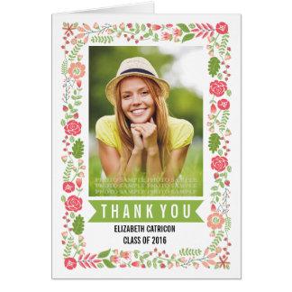 Cartes Classe florale de frontière du Merci 2016