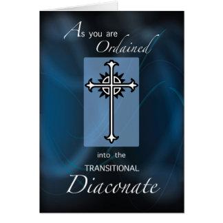 Cartes Classification à la croix transitoire de diaconat,