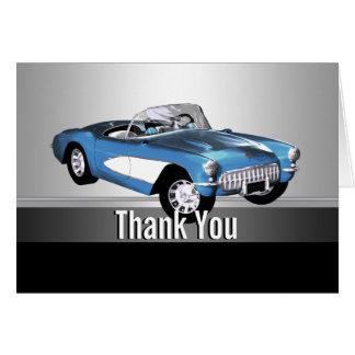 Cartes classiques de Merci de voiture