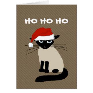 Cartes Clause siamoise de Kitty - Noël drôle de chat