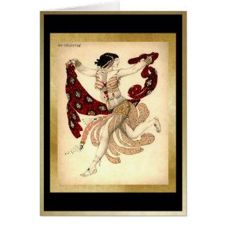 Cartes Cléopâtre, pour le ballet Russes par Bakst