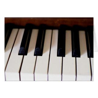 Cartes Clés de piano