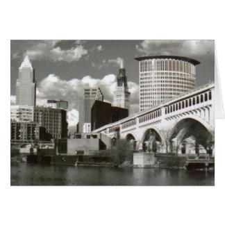 Cartes Cleveland Ohio noir et blanc