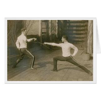 Cartes Clôture vintage de sabre de Yale ! Clôture de la