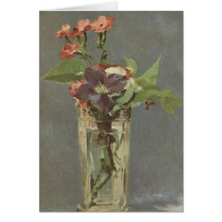 Cartes Clou de girofle et clématite dans un vase en