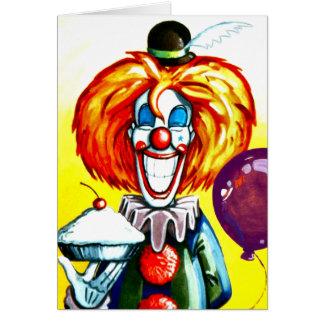 Cartes Clown avec la peinture de tarte