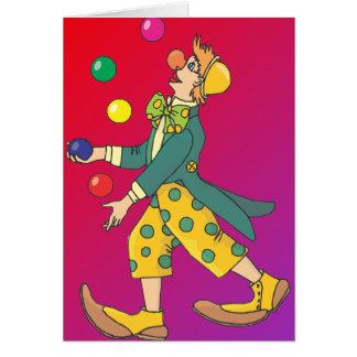 Cartes Clown de jonglerie