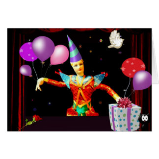 Cartes clown de joyeux anniversaire