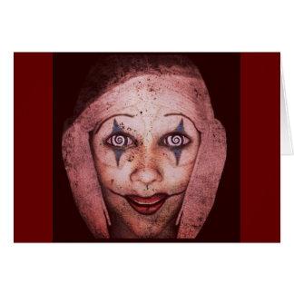 Cartes Clown de Raggedy-Ann de joker avec les yeux