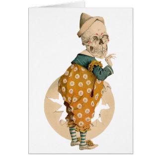 Cartes Clown squelettique