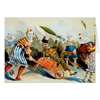 Cartes Clowns de cirque - beaux-arts vintages