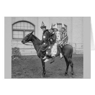 Cartes Clowns sur un cheval, 1915