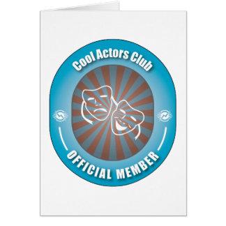 Cartes Club frais d'acteurs