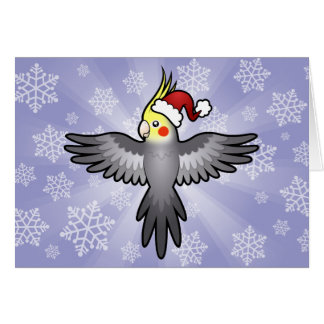 Cartes Cockatiel de Noël