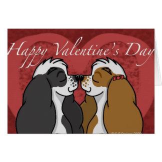 Cartes Cocker de Parti de Valentines