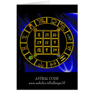 Cartes CODE ASTRAL, diagramme d'astrologie de zodiaque du