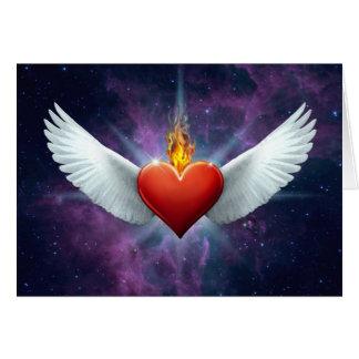 Cartes Coeur à ailes