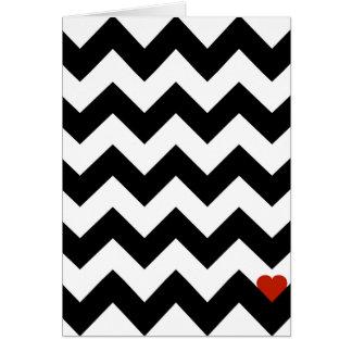 Cartes Coeur & Chevron - Noir/Rouge Classique
