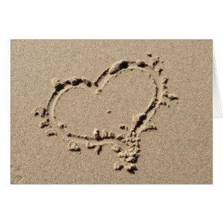 Cartes Coeur dans le sable
