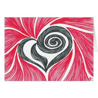 Cartes Coeur dans un remous