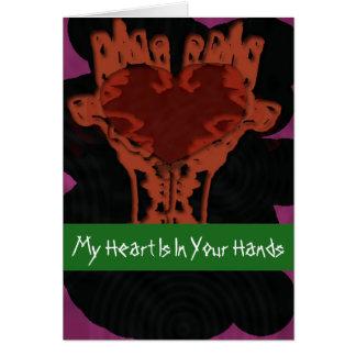 Cartes Coeur dans votre note de mains
