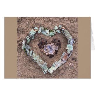 Cartes Coeur d'art de nature d'hiver