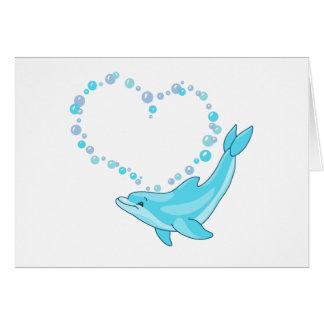 Cartes Coeur de dauphin