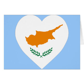 Cartes Coeur de drapeau de la Chypre