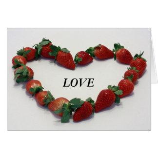 Cartes Coeur de fraise